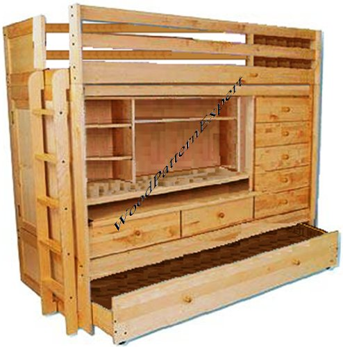 Wholesale Bunk Bed All In 1 Loft With Trundle Desk Chest